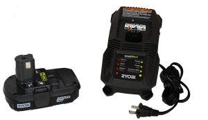 HG-3 Ryobi P128 Li-Ion 18V Battery and IntelliPort Charger Kit For Cordless Glue Guns