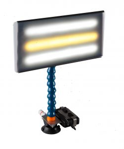 """PC LED 133 - 13"""" Portable LED Light with Batttery, Charger, Battery Holder, and 12V Plug Cord"""