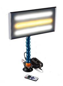 """PC LED 134 - 13"""" Portable LED Light with Batttery, Charger, Battery Holder, Remote Dimmer and 12V Plug Cord"""