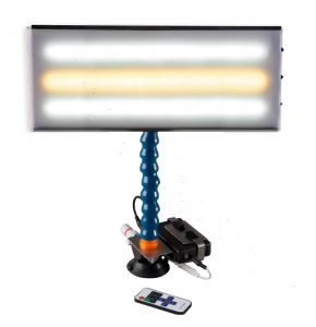 """PC LED 142 - 18"""" Portable LED Light with Batttery, Charger, Battery Holder, Dimmer and 12V Plug Cord"""