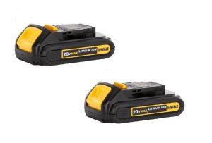 PC LED 219  2 pack Dewalt 20V Batteries 1.3Ah