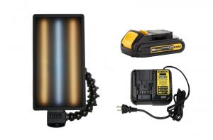 """PC LED 253 LED Dewalt Charged Ultra Vibrant Portable 20"""" Light (With Battery and Charger) Warm Cool Warm Strips"""