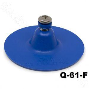 "Q-61-F SuperTab® 3"" Blue Smooth Round Large Damage Collision Tabs"