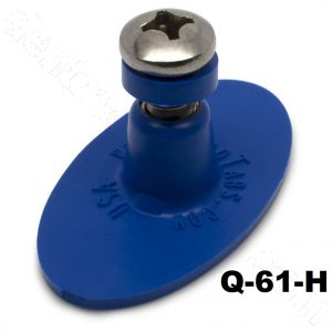 Q-61-H Keco 28 x 50 mm Blue Smooth Oval Heavy Duty Collision Repair Tabs