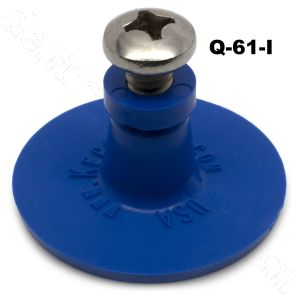 Q-61-I Keco 38 mm Blue Smooth Round Heavy Duty Collision Repair Tabs