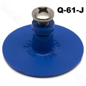 Q-61-J Keco 47 mm Blue Smooth Round Heavy Duty Collision Repair Tabs