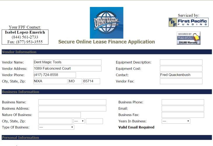 Financing Application