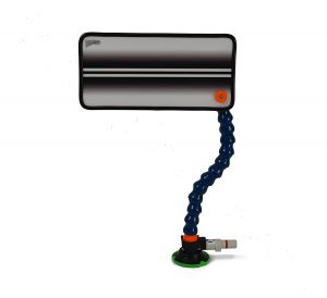PC-23 White Double Line Reflector Board, Stand and Suction Cup