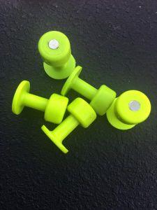 BL-20 Magnatab Magnetized 20mm Gang Green Round Glue Tab Blackplague