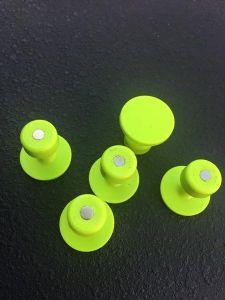 BL-21 Magnatab Magnetized 25mm Gang Green Round Glue Tabs Blackplague