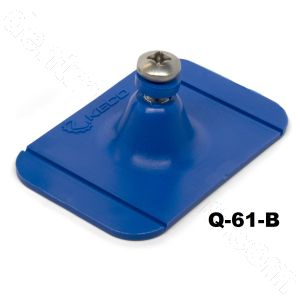 "Q-61-B SuperTab® 2 x 3"" Blue Rectangle Large Damage Collision Tabs - Edge Tab"