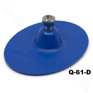 "Q-61-D SuperTab® 3 x 4"" Blue Smooth Oval Large Damage Collision Tabs"