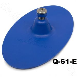 "Q-61-E SuperTab® 3 x 6"" Blue Smooth Oval Large Damage Collision Tabs"
