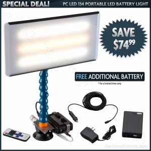 Special #5 PC LED 134 Portable Light with FREE Extra Battery