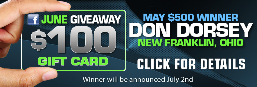 Facebook June Promo $100 Gift Card - Click Here for Details