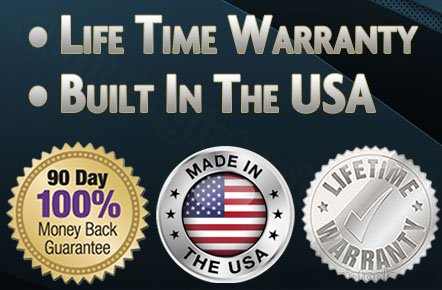We offer a 100% Money Back Guarantee and a Lifetime Warranty.